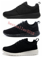 womans shoe großhandel-Großhandel 2018 New London Olympic Classic Alle Schwarz Weiß Tinte Laufschuhe Für Männer Frauen Sport London Olympic Womans Mens Trainer Sneaker