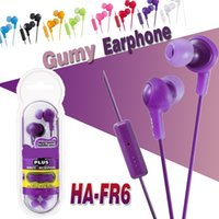 Wholesale Earphones Isolation - Gumy Headphones Earphones HA FR6 Earphone Gumy Plus Inner Ear Headset With Comfortable Fit Sound-isolation With Mic Nano Colors Package
