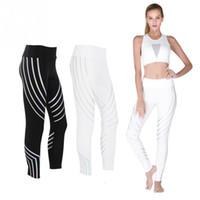 sıkıştırma giymek kadınlar toptan satış-Yoga Pantolon Nefes Çabuk Kuruyan Kadınlar Spor Pantolon Spor Koşu Tayt Sıkıştırma Egzersiz Yoga Uzun Tayt Giyen Parçası