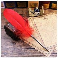 ingrosso penne a sfera eleganti-14 colori in vetrina piuma carina penna elegante penna a sfera promozionale regali di natale penna kawaii per la scrittura