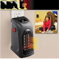 Wholesale wall electric heaters - Mini Portable Electric Handy Plug In Heater Hand Warmer Wall Heating Apparatus Hotel Kitchen Bathroom EU UK Plug Electric Radiator 45wn Y