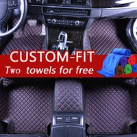 Wholesale bmw floor - Custom car floor mats for bmw e30 e34 luxury leather mats for cars waterproof custom fit cover light dust-proof protects stains