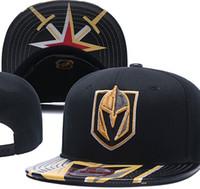 Wholesale golden knit - 2018 Newest Ice Hockey Cap Nashville Predators Snapbacks Hats For Men Knitted Vegas Golden Knights Snapback Caps Drop Shipping