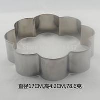 наборы для выпечки оптовых-Wholesale-retail/wholesale Stainless Steel Cookie Cutter cake mold mousse ring Bakeware tools DIY tools set