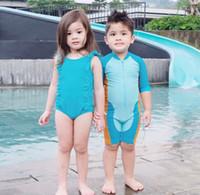 biquini azul dos miúdos venda por atacado-2018 Crianças Do Bebê Swimwear Biquíni Meninas Luz Azul Bikini Swimwear Ruffle Backless Traje de Natação Maiô
