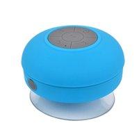 ingrosso bluetooth ricevuto-Subwoofer portatile doccia impermeabile Bluetooth senza fili Altoparlante vivavoce per auto Ricevi chiamata Musica Aspirazione telefono Mic per iPhone shippi gratuito
