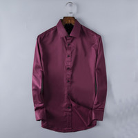 Wholesale Office Fit - Designer Mens shirt comfortable fit shirts fashion office male long sleeve Business Casual shirts Luxury brand men social clothing JDV001
