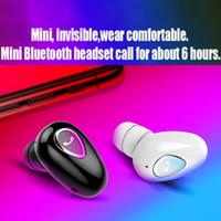 bluetooth kulaklık perakende kutusu toptan satış-YX-01Mini Bluetooth Kulaklık Kablosuz Kulaklık BT4.1 Kulak Kulakiçi Spor Sweatproof Kulaklık Perakende Kutusu ile Mic ile Kulak Kancası