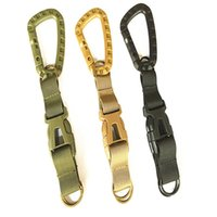 Wholesale color carabiner hook resale online - Waist keychain Mochila Webbing Hook Ribbon Carabiner Outdoor Tools Tactical Backpack Pure Color Camping Equipment Belt Buckle yf bb