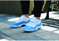 Wholesale Outlet Goods - Made outlet sneaker 11 XI Low good University Blue White Men Basketball Shoes 11s UNC Sports Trainers Sneakers walking outside