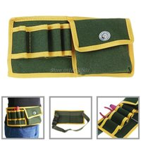 Wholesale Holders Wrought Iron - Canvas Pouch Holder Electrician Mechanic's Waist Pack Belt Work Bag Holder Tool S08 Drop ship