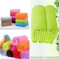 Wholesale Flannel Bedspread - 50*70cm Warm Flannel Fleece Blankets Soft Solid Blankets color Bedspread Plush Winter Summer Throw Blanket on for The Bed Sofa Manta I136