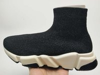 Wholesale cheap foot - Fashion 2018 new Elastic sleeve foot Socks shoes,high cylinder heighten socks,men and women Trainers,Discount cheap Outdoor training Sneaker