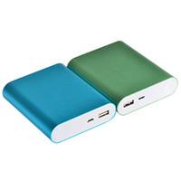 5v мощность mp3 оптовых-centechia 1 PC USB Power Bank Case 5V 2.1 A комплект 4X 18650 Зарядное устройство DIY Box для MP3/4 телефона