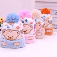 Wholesale photo prop newborn girl clothes resale online - Baby Hat Kids Winter Hats Newborn Cap Hot Super Soft Cashmere Beanie Bonnet For Boys Girls Photo Props Baby Clothing Knitted Cap