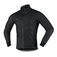 arsuxeo ceket toptan satış-Arsuxeo erkek Bisiklet Ceket Kış Termal Sıcak Polar MTB Bisiklet Bisiklet Giyim Spor Rüzgar Geçirmez Ceket-2018 Yeni Varış