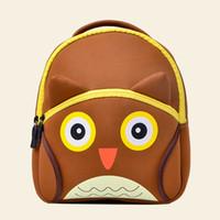 bonitas mochilas para meninas venda por atacado-TOCHANG Mochilas Infantis das Crianças 3D Bonito Dos Desenhos Animados Sacos De Escola Presente Da Criança Meninos Meninas Coruja Sacos Bonitos para 2-4 Anos de Idade
