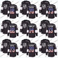Wholesale 13 Flag - USA Flag Stitched Los Angeles Kings 52 Michael Amadio 22 Trevor Lewis 71 Torrey Mitchell 13 Kyle Clifford 33 Marty Mcsorley Hockey jerseys