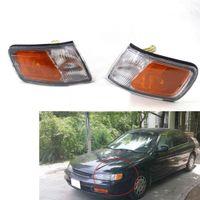 lentes de marcador de coche al por mayor-APC Front Clear Lens Car Corner Turn Signal Lights para Honda Accord CD4 CD5 1994 ~ 1997 Corner Park Light Turn Signal Marker Lamp