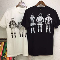 Wholesale astronaut shirt - 2018 new fashion womens mens t shirt short sleeve casual active male men fitness tshirt t-shirt long sleeve Three astronauts printed
