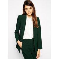 37e0c600ece4 Hot Sale Pantalones Mujer New Fashion Women Suit Custom Made Dark Casual  Single Button Woman Tops Female Plus Size Suits Jacket + Pants