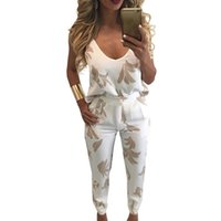 Wholesale sexy pink yoga pants for sale - Sexy Halter Piece Set Women Tracksuit Floral Print Two Piece Set Summer Women Set Outfit Top And Pant Pink White Female