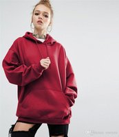 Wholesale Natural Cotton Batting - plus size s-5xl Thin Hoodies 2017 Women's Casual Loose Fit Solid Color Hooded Bat Sleeves Long-sleeve Sweatshirts Women's hoodies