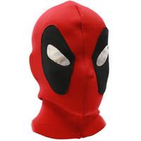 tam kaburga toptan satış-Cadılar bayramı Cosplay Maske Deadpool Maskeleri Şapkalar Serin Kostüm Ok Ölüm Kaburga Kumaşlar Tam Yüz Şenlikleri Parti Suoolies 14xr gg