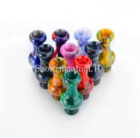 Wholesale vase styles - 2018 Colorful Epoxy Resin 510 Drip Tip Vase Style Mouthpiece For TFV8 Baby rda rba rta TF12 Tank Atomizer