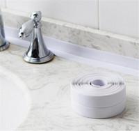 Wholesale living lines resale online - Self Adhesive Kitchen Ceramic Sticker Waterproof Anti moisture PVC Sticker Bathroom Wall Corner Line Sink Stickers cm