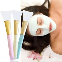 Wholesale skin mask silicone resale online - DHL Professional Silicone Facial Face Mask Mud Mixing Skin Care Beauty Makeup Brushes Foundation Tools maquiagem