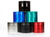 ingrosso detergenti bong-4 strati in lega di zinco metallo smerigliatrice di tabacco Herb grinder 6 colori 40mm 50mm 55mm 63mm mano frullatore Muller