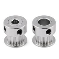 impresora de aluminio al por mayor-2GT 5mm / 8mm 20T aleación de aluminio del engranaje sincrónico polea de la correa dentada para la impresora 3D