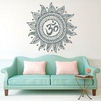 pegatinas religiosas al por mayor-Etiqueta engomada religiosa desprendible de la pared de la yoga de la flor de la mandala para la decoración casera del dormitorio de la sala de estar
