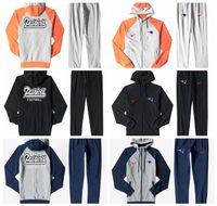 ingrosso vestiti blu pieni bianchi-New Patriots Men's Print Full Zip Sportswear Tuta sportiva uomo Tuta Plus tuta blu Ash Nero Splicing bianco arancio