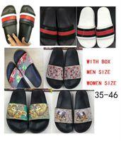 top tongs achat en gros de-taille 35-46 2018 Top qualité femmes hommes pantoufles sandales clip de design flip style tigre imprimer diapositive sandale floral flip tongs