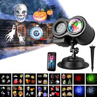 Wholesale Ocean Wave Halloween Christmas Projector Lights Slides Colors in LED Landscape Lights Waterproof Home Party Garden Decorations