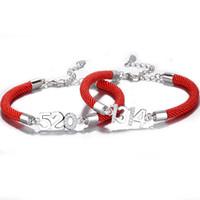 zincir avrupa aşkı toptan satış-Seni seviyorum, şanslı kırmızı el zinciri 5201314, altın yükseldi, Avrupa ve Amerikan bayram hediyeleri, çiftler, erkekler ve kadınlar.