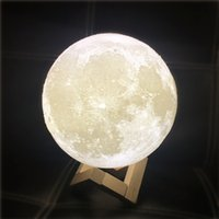 8-20cm 3D Lunar Light LED Lua Night Light Lua Night Touch Lamp Romatic Lights Bedroom Lâmpada de mesa Presentes Creative Party Supply wn305