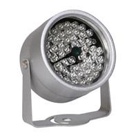 cctv için kızıl ötesi aydınlatıcı toptan satış-CCTV LEDS 48 IR aydınlatıcı Işık IR Kızılötesi Gece Görüş Metal Su Geçirmez CCTV CCTV Gözetim Kamera için Işık Doldurun
