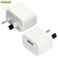 au 4s зарядные устройства оптовых-Универсальный 5V 2A австралийский AU Plug USB зарядное устройство путешествия AC небольшой квадратный адаптер питания для iphone6 iPhone 7/6 Plus/6/5S/5 / 4S iPad Samsung