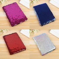 Wholesale Student Diary - Mermaid Sequins Notepad Creative Multi Color Student Diary Book For Kids Stationery Gift Notebook 8hx C R