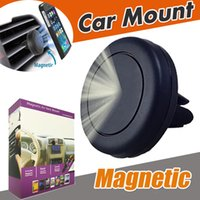 Wholesale Mobile Phone Technologies - Universal Air Vent Magnetic Car Mount Holder With Fast Swift-Snap Technology Magnetic Mobile Phone Holders Reinforced Magnet For Smartphone