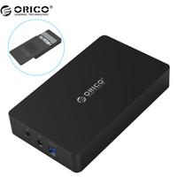 3,5 inç sabit disk için dava toptan satış-ORICO 3569S3 3.5 inç Sabit disk kutusu Sata 3.0 USB 3.0 HDD Kutu Aracı Ücretsiz Destek UASP Protokolleri ORICO Sabit Disk Muhafaza