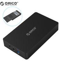 caso hdd de 3,5 polegadas venda por atacado-ORICO 3569S3 3.5 polegada caixa de disco rígido Sata 3.0 USB 3.0 HDD Caso Ferramenta Livre Suporte UASP Protocolos ORICO Disco Rígido Recinto