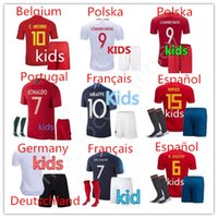 Wholesale boy cups - CR7 MBAPPE World Cup soccer Jerseys kids españa football maillot de foot Champions League psg maillot de foot