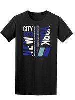 gömlekler yeni stiller resimler toptan satış-New York Kentsel Tarzı erkek Tee-Image tarafından Shutterstock 2018 Kısa Kollu Pamuk T Shirt Adam Giyim Baskı T Gömlek Erkekler