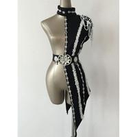 cantantes femeninas ropa de rendimiento al por mayor-Jazz New Dancing Tops Mujeres Dj Cantantes femeninos etapa Bodysuit Discotecas DS Performance Bodysuit Ropa Bar traje de sujetador Y10607