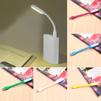 Wholesale car lights for sale - Multicolor Mini Car styling Reading Lamp USB LED Light Computer Lamp for Notebook PC Laptop Reading Night Silica Gel