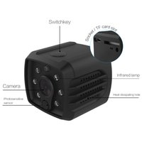 led-kamera-videorecorder dv großhandel-Mini Kamera HD Camcorder Nachtsicht 1080P Sport DV Video Recorder mit Wifi Smart Home Security Überwachung P2P IP Kamera Schwarz